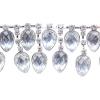 Rhinestone Trim Drops By Yard 35mm Crystal /Silver